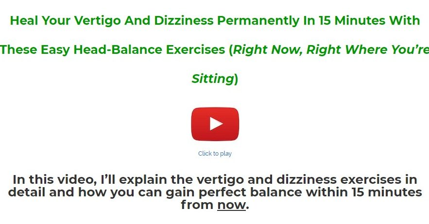 The Natural Vertigo and Dizziness Relief Program Download
