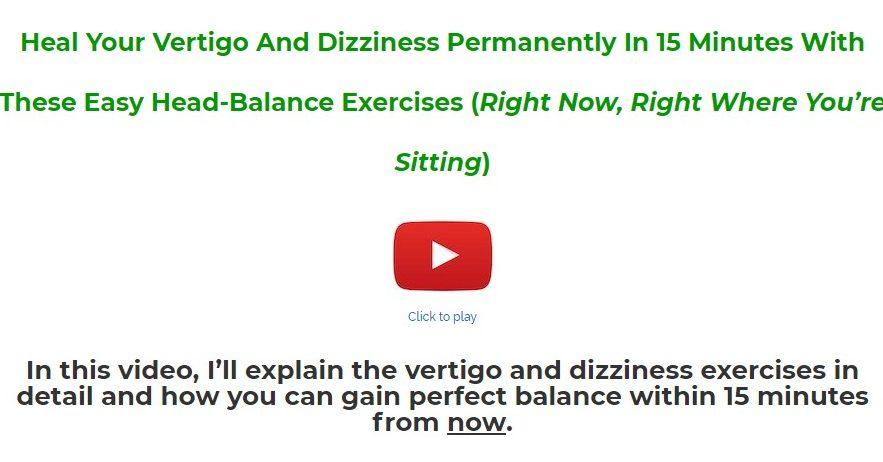 The Natural Vertigo and Dizziness Relief Program Download
