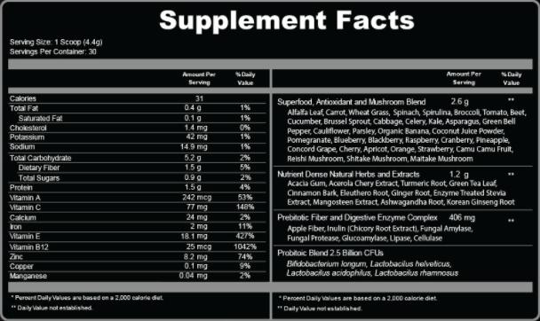 Ultra Boost Juice Ingredients