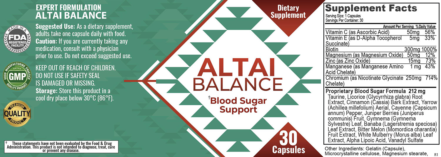 Altai Balance Ingredients