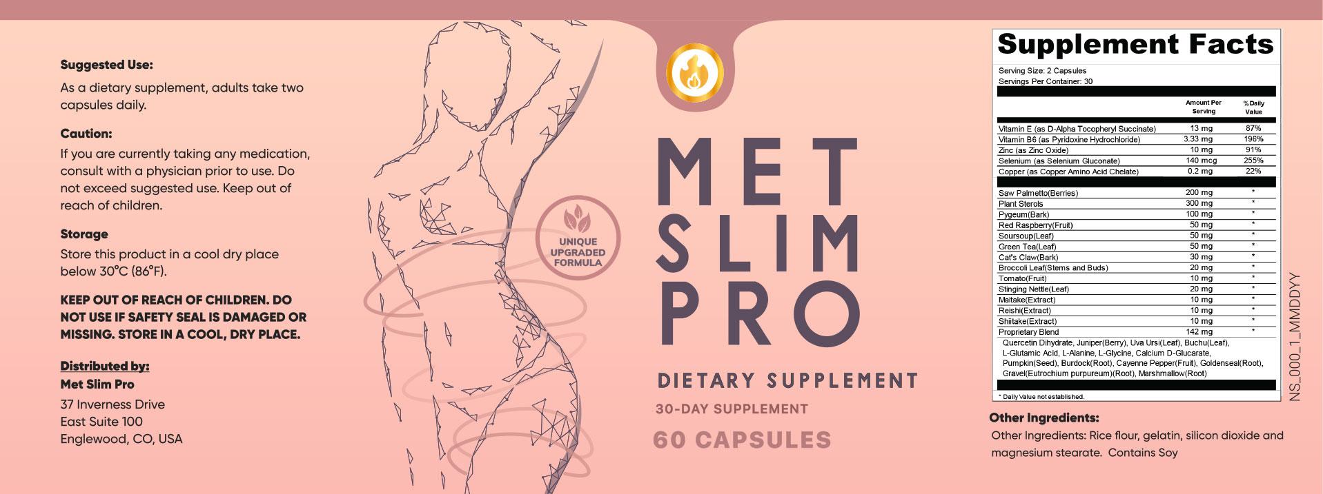 Met Slim Pro Ingredients