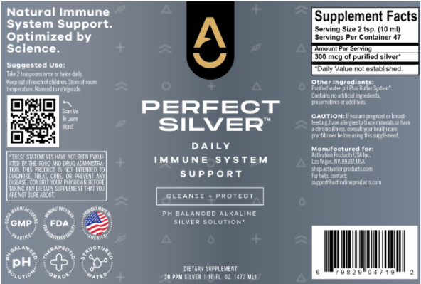 Activation Products Perfect Silver Ingredients