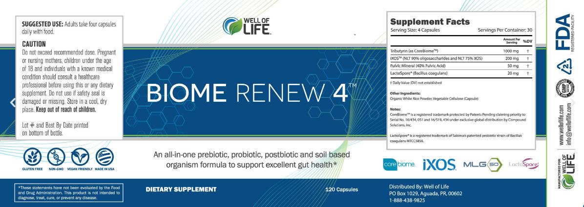 Biome Renew 4 Ingredients