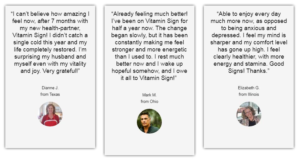 Vitamin Sign Customer Reviews