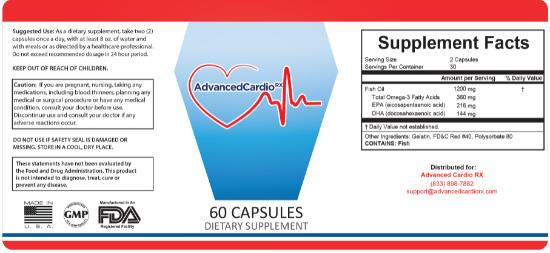 Advanced Cardio RX Ingredients