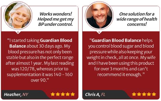 Guardian Botanicals Blood Balance Customer Reviews